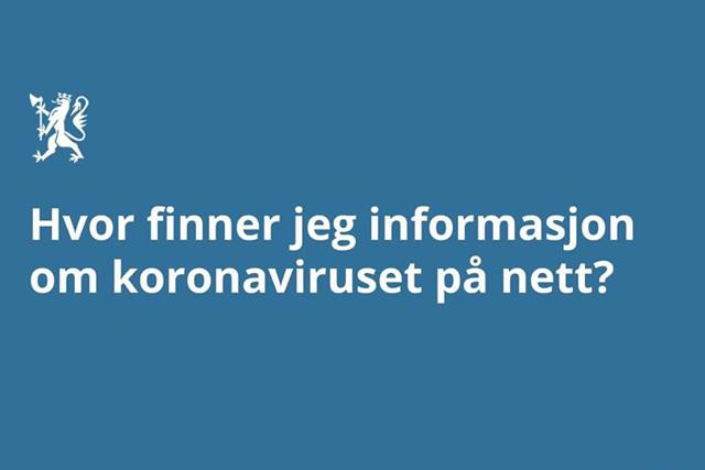 Informasjon om koronavirus